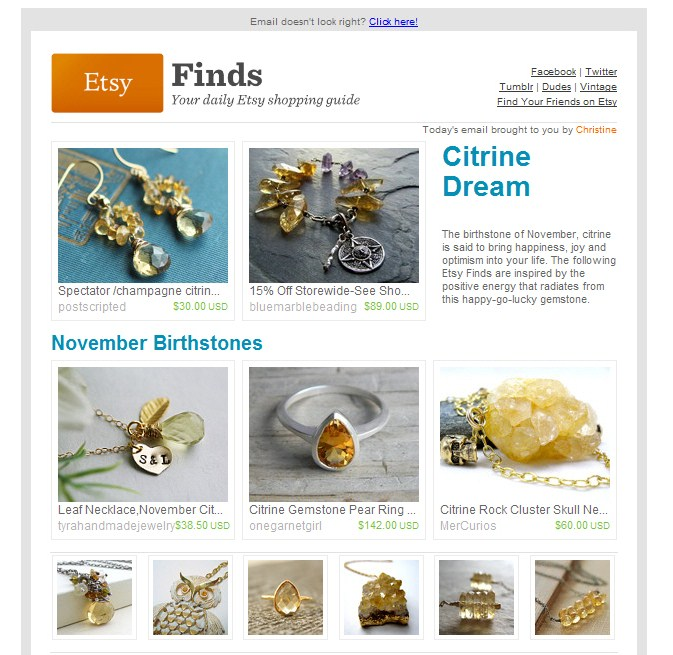 Etsy Finds - Citrine Dream // November 2011