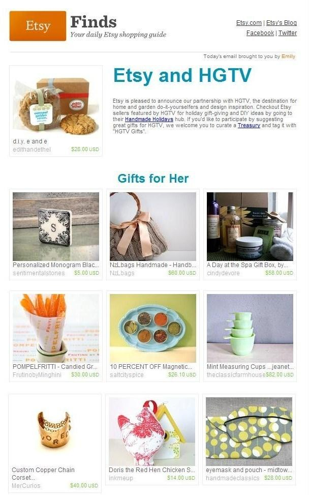 Etsy Finds - Handmade Holidays // November 2010