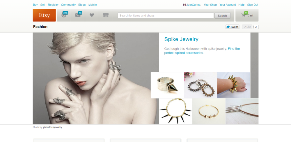 Etsy Fashion - Spike Jewelry // October 2012