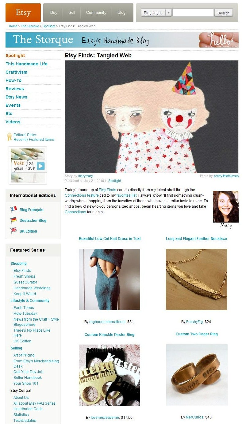 Etsy Finds- Tangled Web