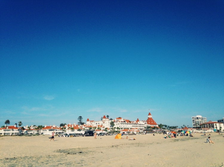 Hotel del Coronado beachside