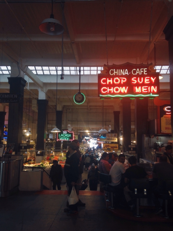 Center of the market. The Chop Suey place was by far the busiest spot.