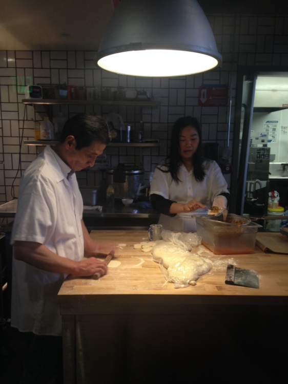 Window into the heart of Chino. Where the dumplings are assembled.