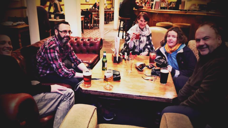 Here some of us are in the  Orange Tree  after an autumn analogue walk *Cheers*