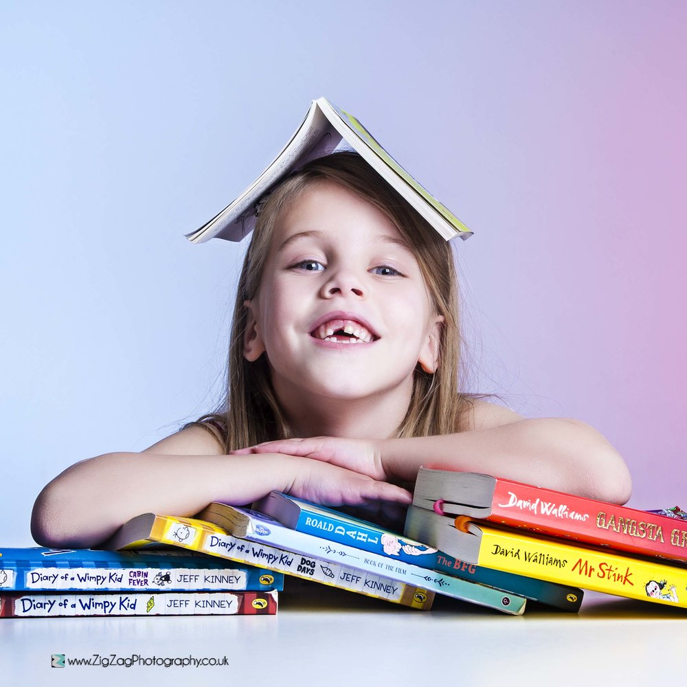 photography-studio-leicester-photoshoot-props-ideas-girl-child-books-diary-wimpy-roald-dahl-bookworm-unusual.jpg