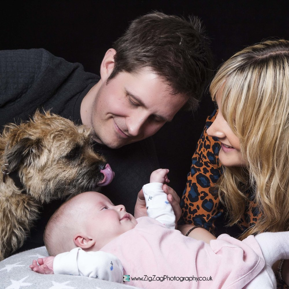 Photography Session Leicester Photoshoot Studio Zigzag Baby Dog