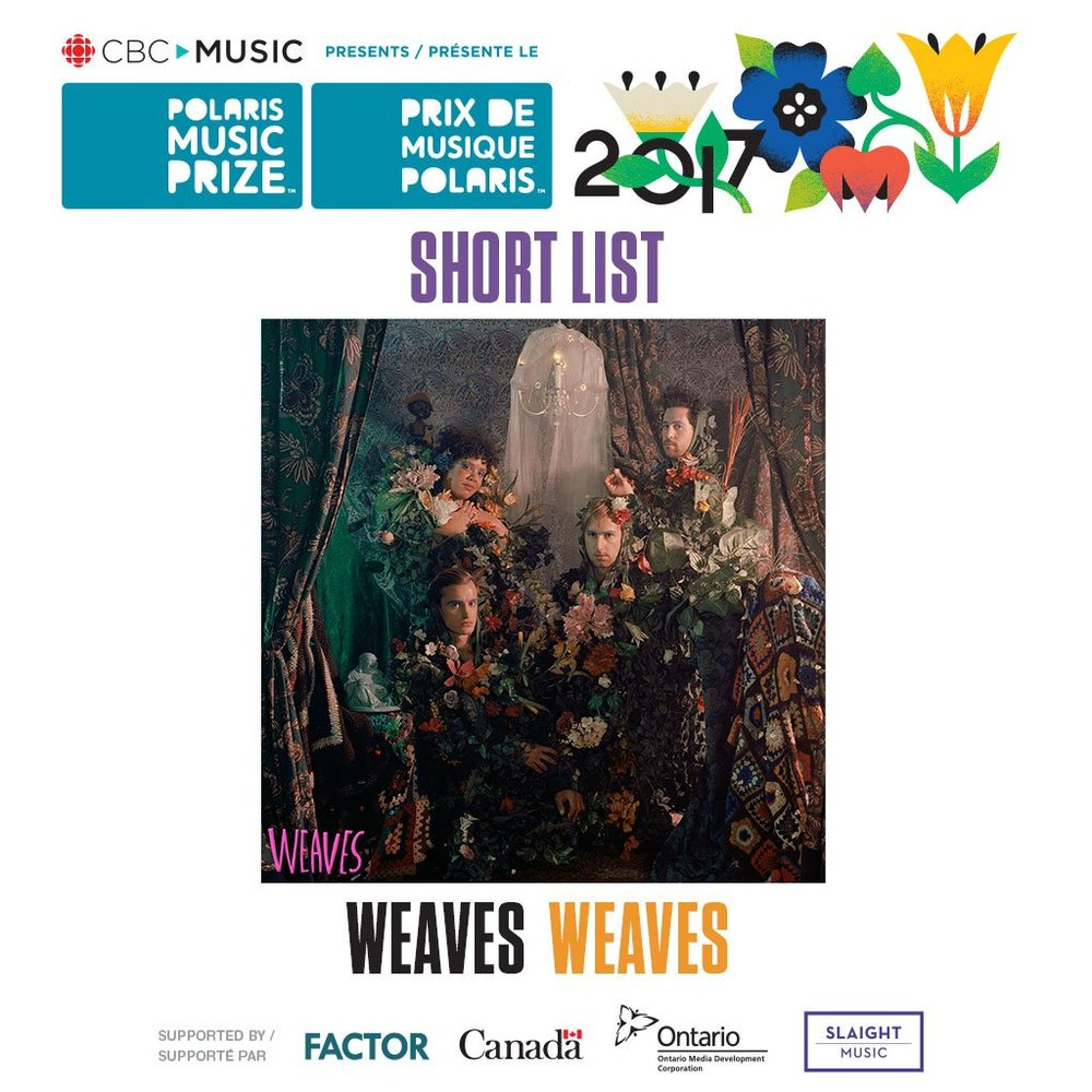 Congrats to Weaves on making the Polaris Music Prize Short list! Revisit the record here.
