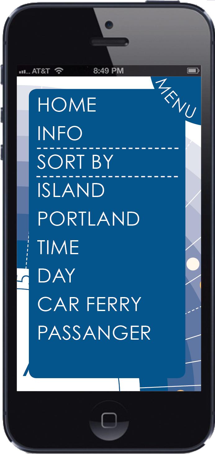 Schedule App - Menu