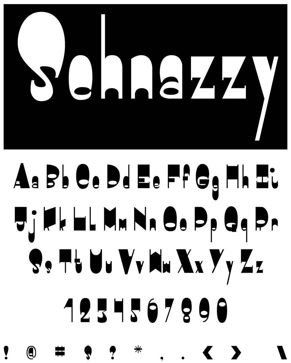 Typeface Characters