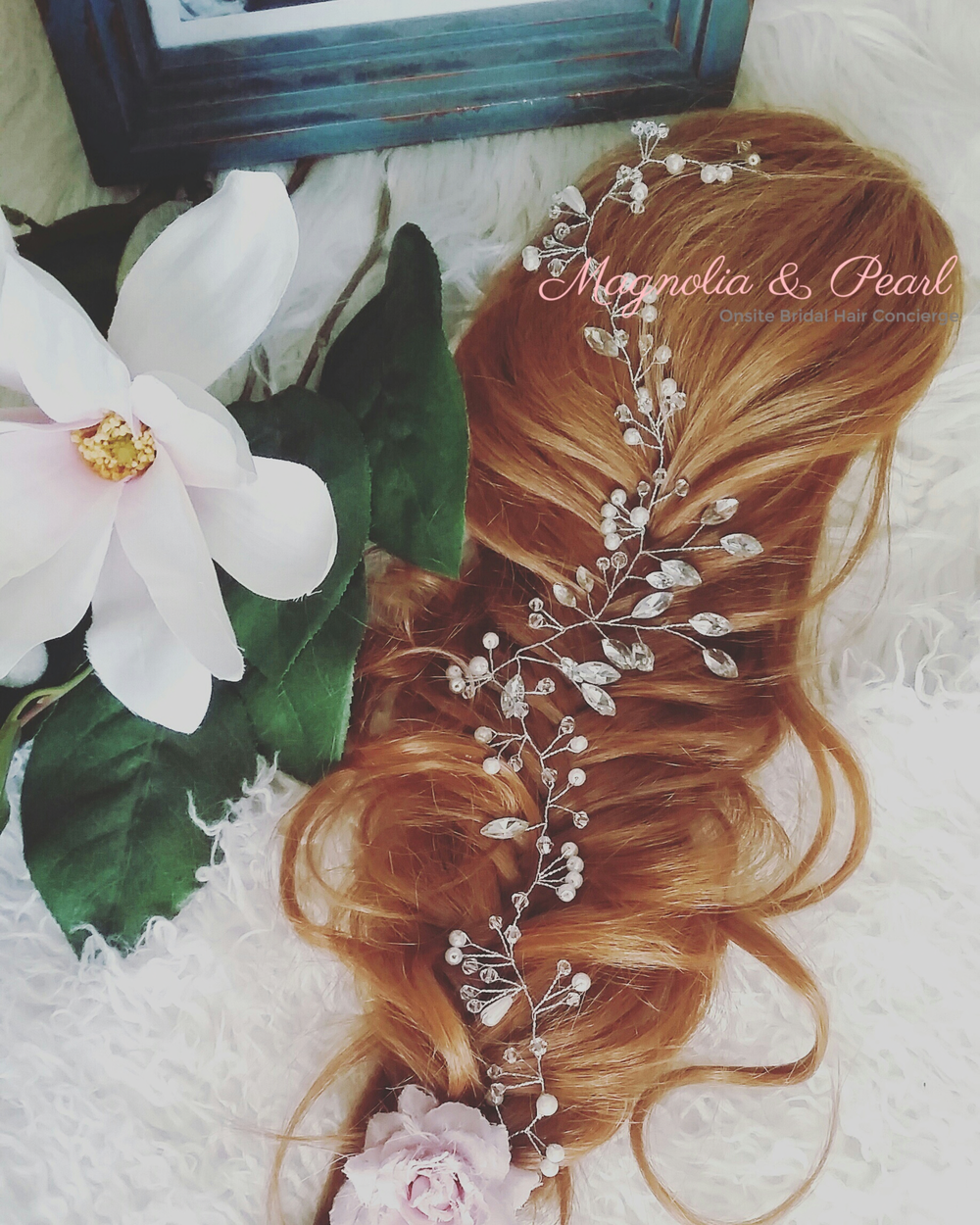 Magnolia & Pearl's Bridal Collection of Stunning Hair Jewelry.