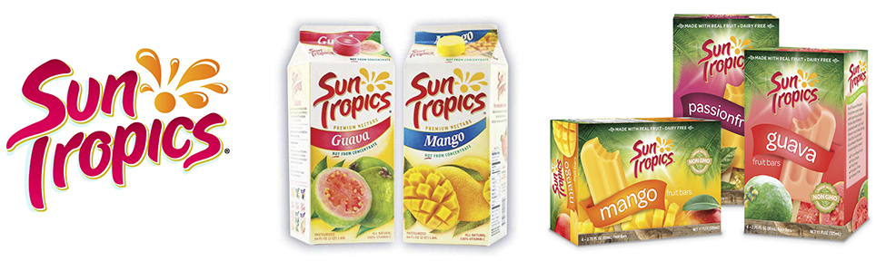 Sun Tropics - Sun Tropics started in 2002 with the vision of bringing the best of the Philippines fruits to the Asian population in the US. We wanted to bring the rich fruit flavors and textures from the homelands to the US kitchen tables. Today, SunTropics are not only available in Asian supermarkets but also in traditional supermarkets, specialty markets, and club stores. We continue to strive to bring quality and true to the fruit products to our Fans and beyond. suntropics.net