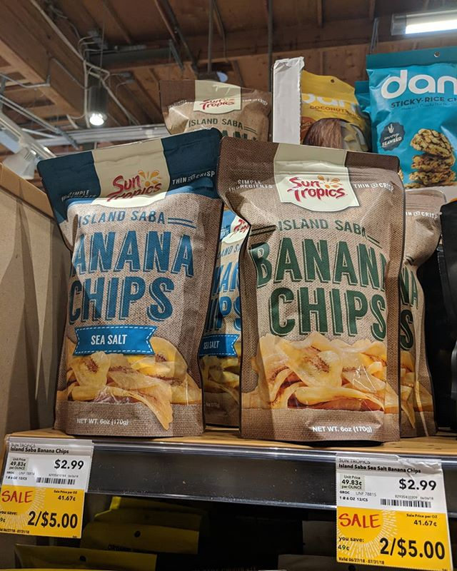 MJM Client #SunTropics #BananaChips new placement at #wholefoods!