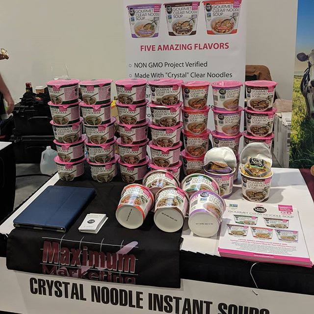 #unfi North Atlantic Show with #crystalnoodle #nongmo #soups