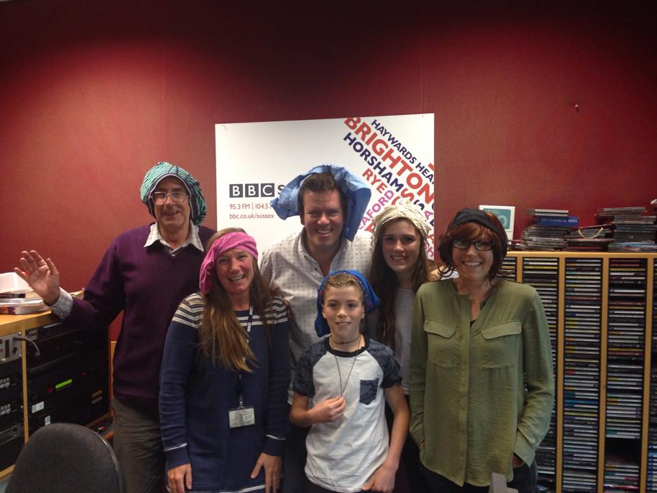 Louise, Ella and Ned visit the Radio Sussex breakfast show on May 2nd.