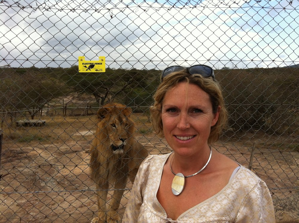Mum being mum on a work trip (not related to the lion!)