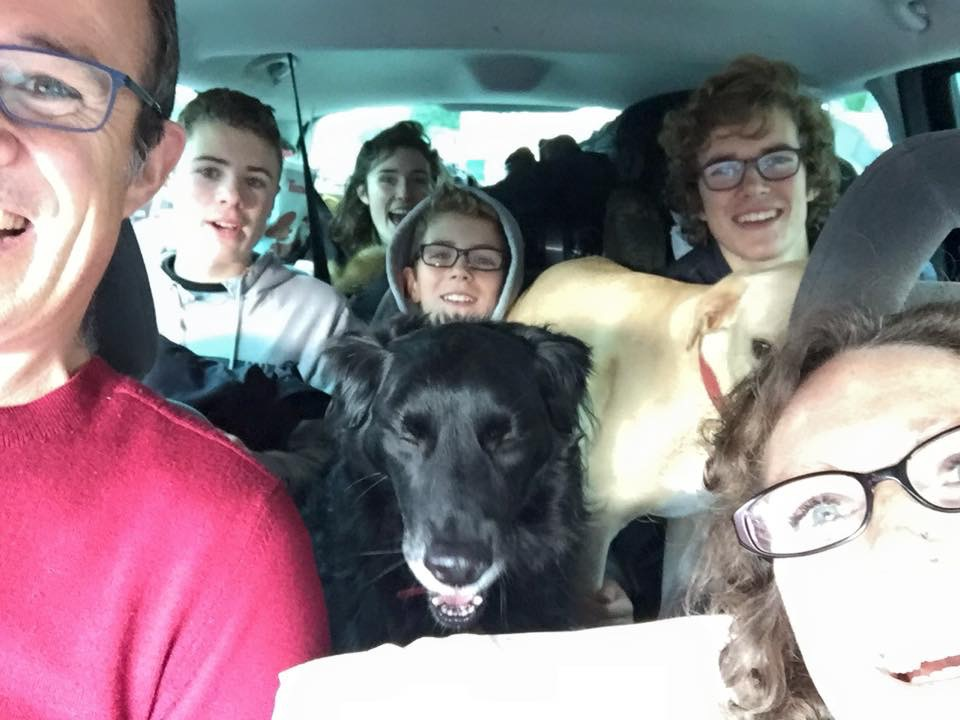 On our way to Wales… this also ENDED UP BEING The last picture TAKEN OF US AS A 6
