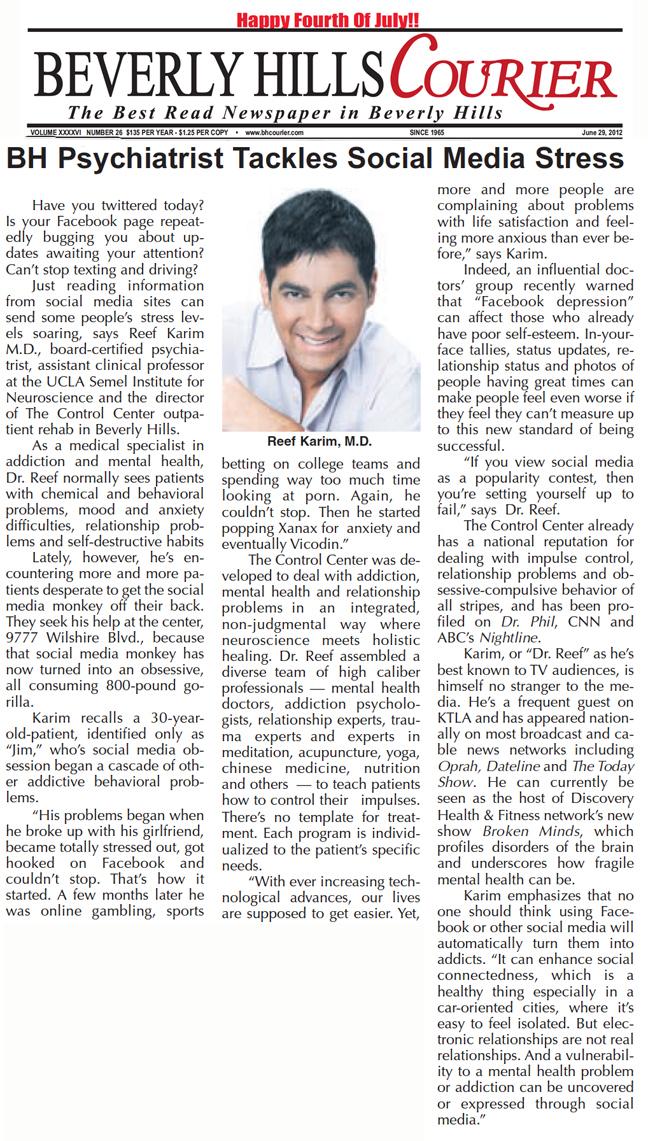 Interview, Beverly Hills Courier, Social Media Stress.jpg