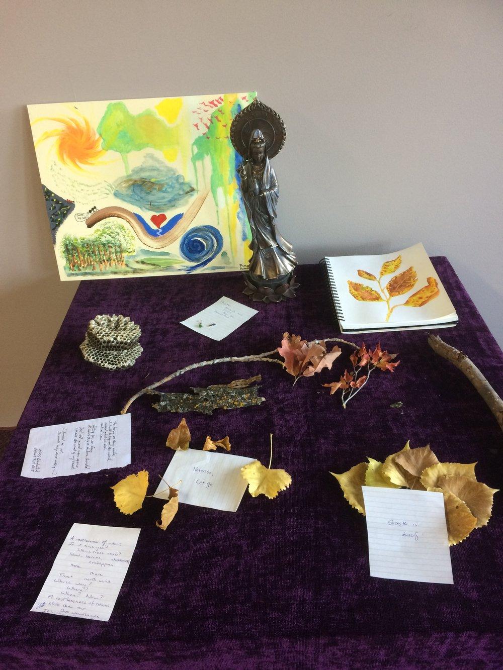 Art offerings from Winnipeg Insight's recent retreat.   Credit: Kurt Schwarz