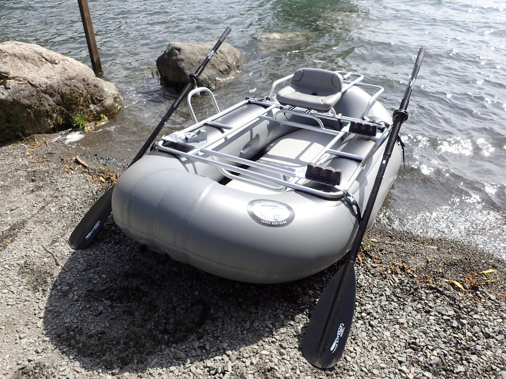 SRC package shown with drop stitch-floor and optional rear anchor system and rod holders.