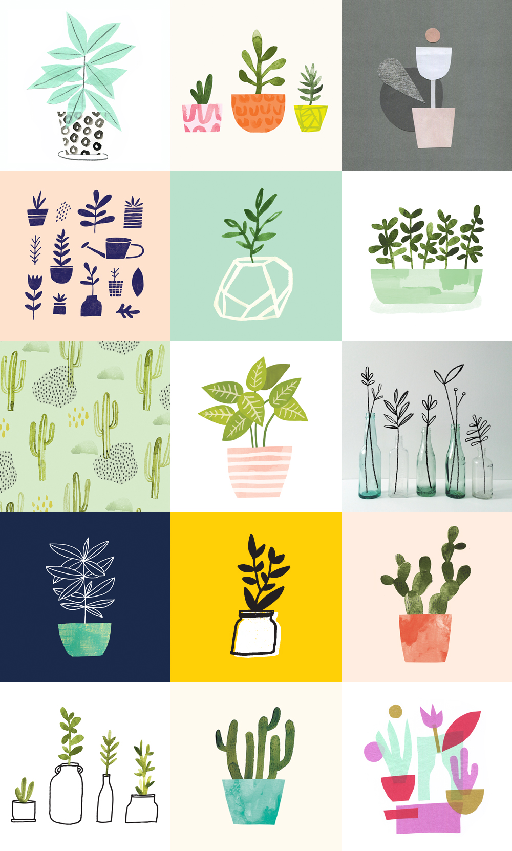 "Jen B Peters'  ""100 Days of Plants"" project"