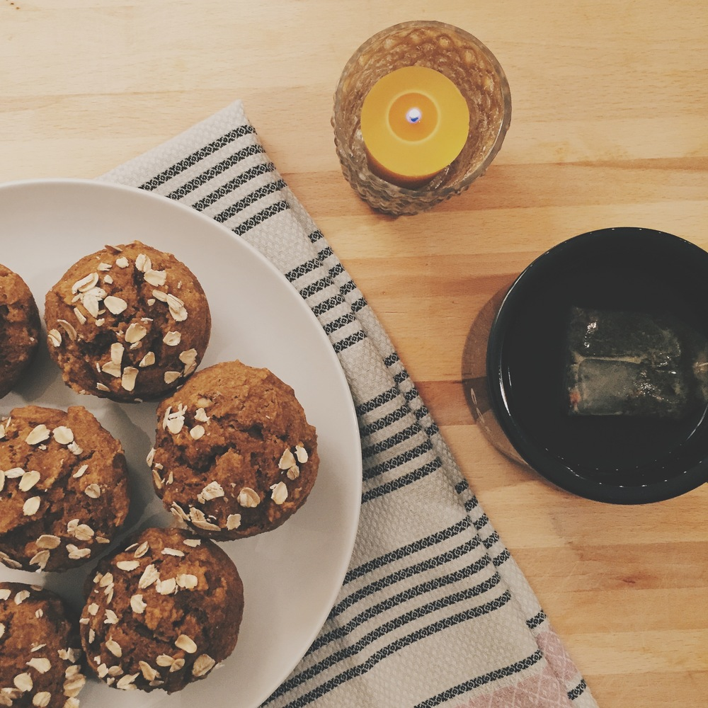 Maple Pumpkin Oat Muffins