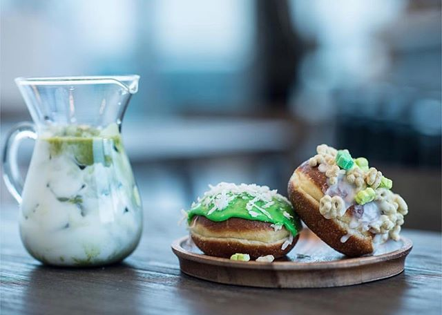 Tomorrow is the last day to get your hands on our lucky charms doughnut! Check out @post_tysons matcha latte as well 🍀