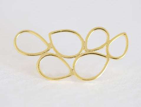 Vermeil Gold Bubble Connector - 18k gold plated over sterling silver abstract bubble connector link $4.50
