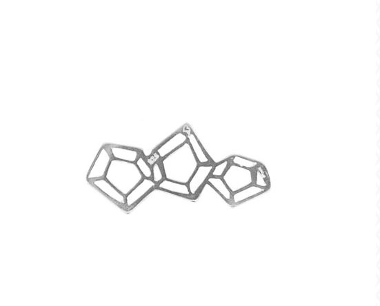 Diamond Cut Cluster Component by Amoracast - 9mm  $5.19