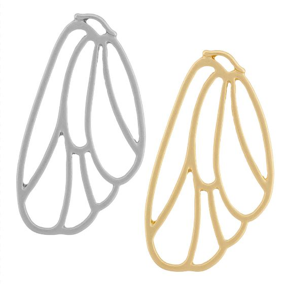 Brass Fairy Wing Component - 40mm  $1.95
