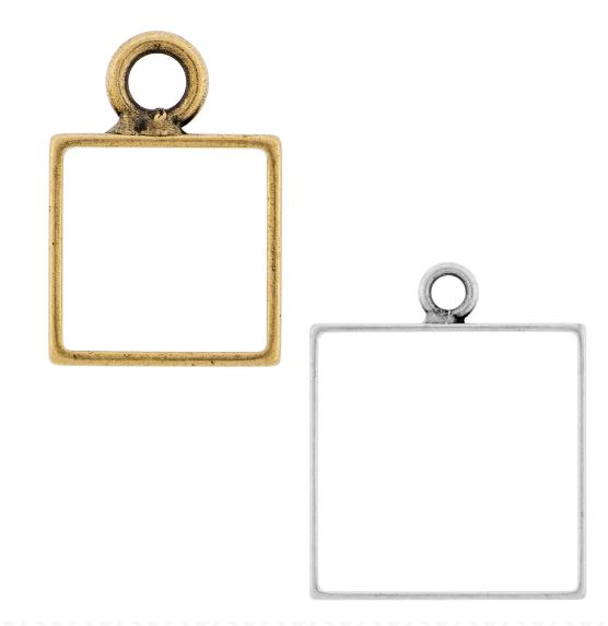 Brass Square Open Frame by Nunn Design (sterling silver, silver plated, gold plated, copper plated)  $2.12-$2.75