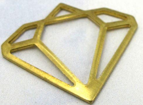Brass Contour Diamond Charms (8X)  $4.00 for 8