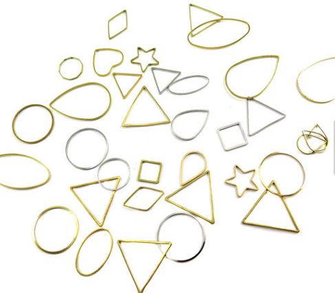 Assorted Mix of Wire Shape Charms (10grams)  $5.00 for 10 grams