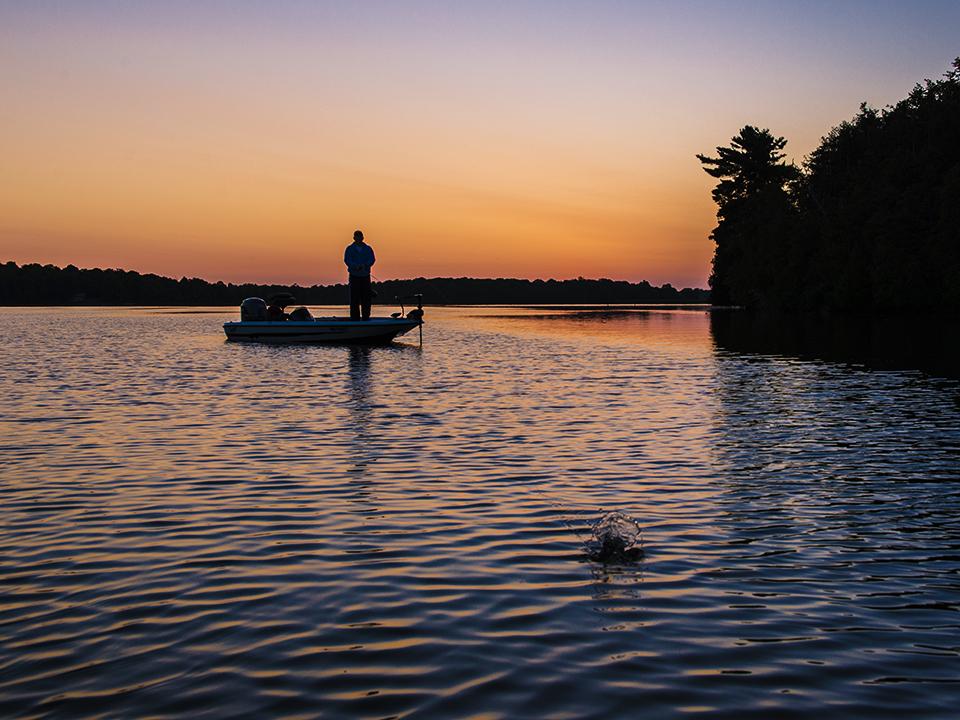 The sunrise is always a beautiful sight on Newboro Lake.