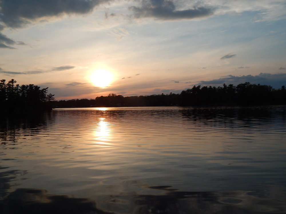 Gorgeous sunset on Newboro Lake
