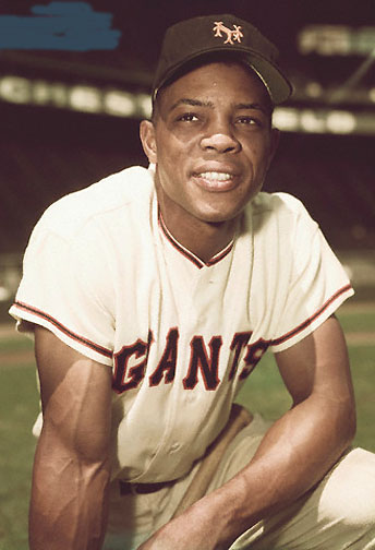 2. Willie Mays - Willie Mays, CFCareer: 1951-73, Giants, MetsFun fact: Played in 24 All-Star GamesMays, after Babe Ruth, is the greatest player of all time: 660 home runs, 3,283 hits, 1,903 RBIs, 338 stolen bases, 12 Gold Gloves (they weren't awarded before 1957) and he made every All-Star team from 1954-73.When Mays came to the majors in 1951, no one had ever seen anyone like him. Even now, he remains the greatest combination of power, speed and defense in baseball history. -- Tim Kurkjian