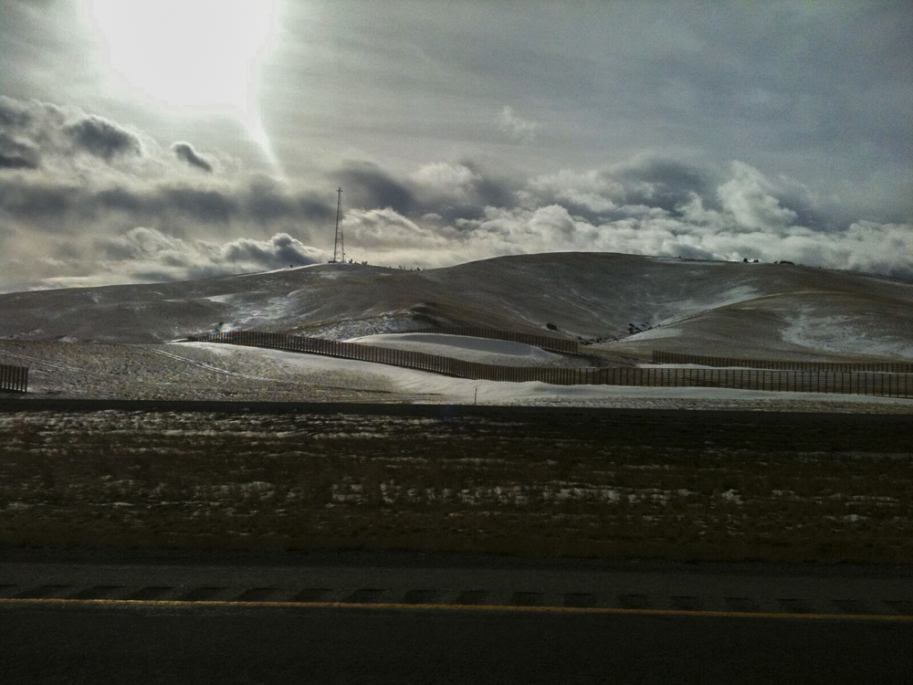 Wyoming Hills and Sun