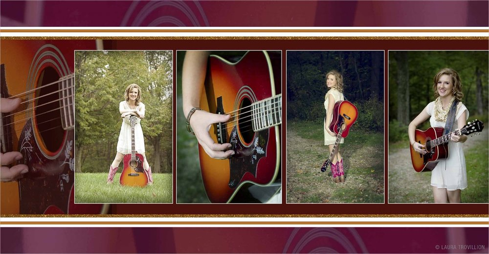 Studio Elle Design - senior picture photo book design