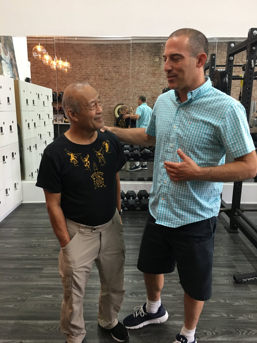 Dr. Pete talking about the Zone Technique just prior to adjusting Master of Masters (and Bruce Lee's Nunchaku instructor), Dan Inosanto. -