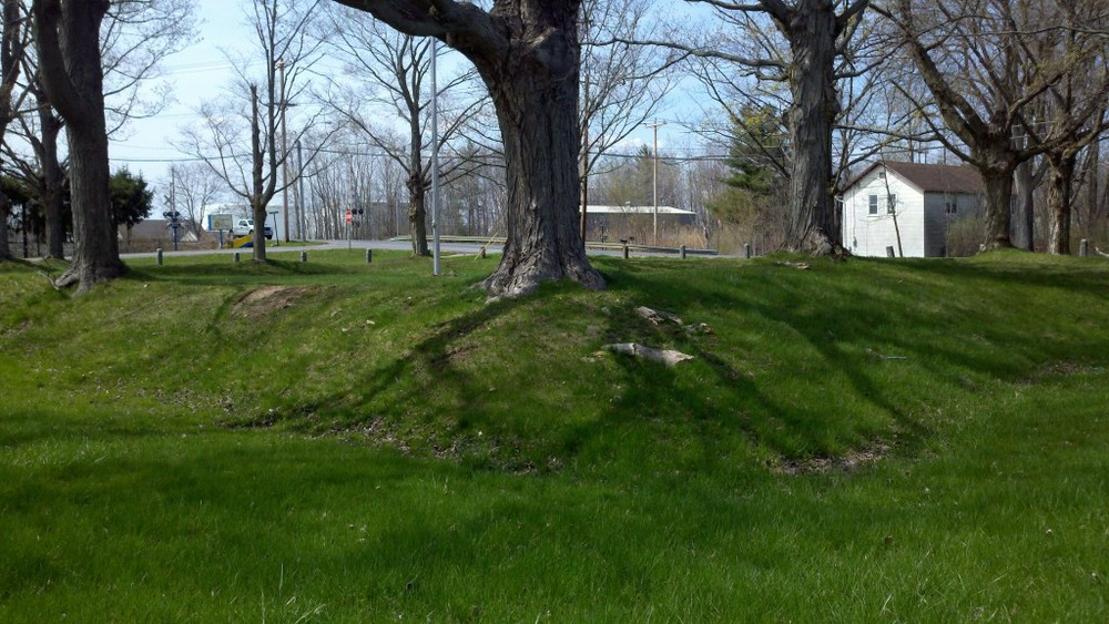 Fort Brewerton earthworks.  Photo credit: Kerry Nelson