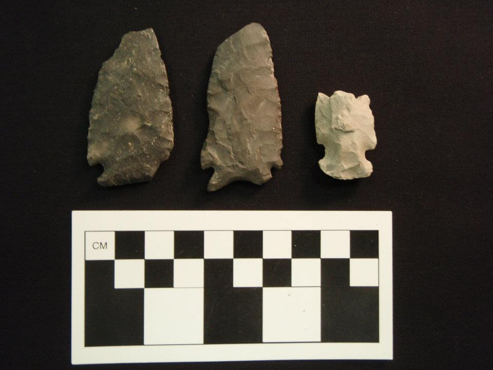 Early Archaic projectile points from the Coxsackie, New York area.