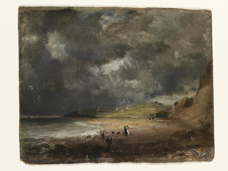 A gloomy picture of Year without summer. Weymouth Bay, 1816, painting by John RA Constable. ©Victoria and Albert Museum