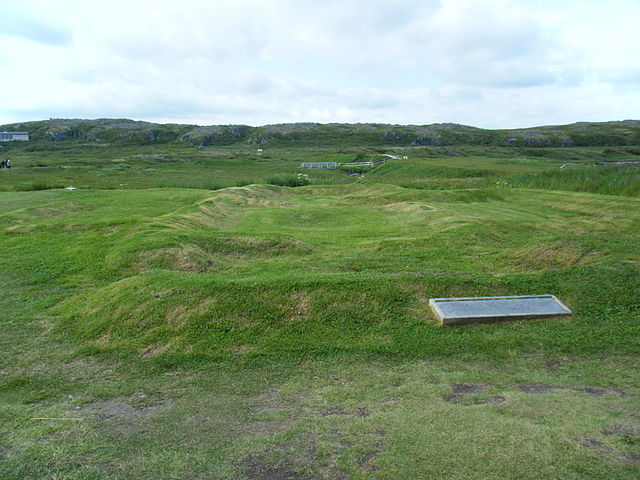 Photograph of the largest original Viking building in L'Anse aux Meadows, Newfoundland. Photo by Clinton Pierce (Own work) [CC BY-SA 3.0 (http://creativecommons.org/licenses/by-sa/3.0)], via Wikimedia Commons