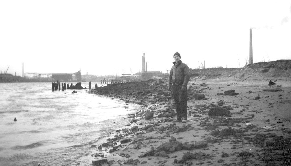 Ralph Solecki at the Maspeth Site, Newtown Creek, 1937
