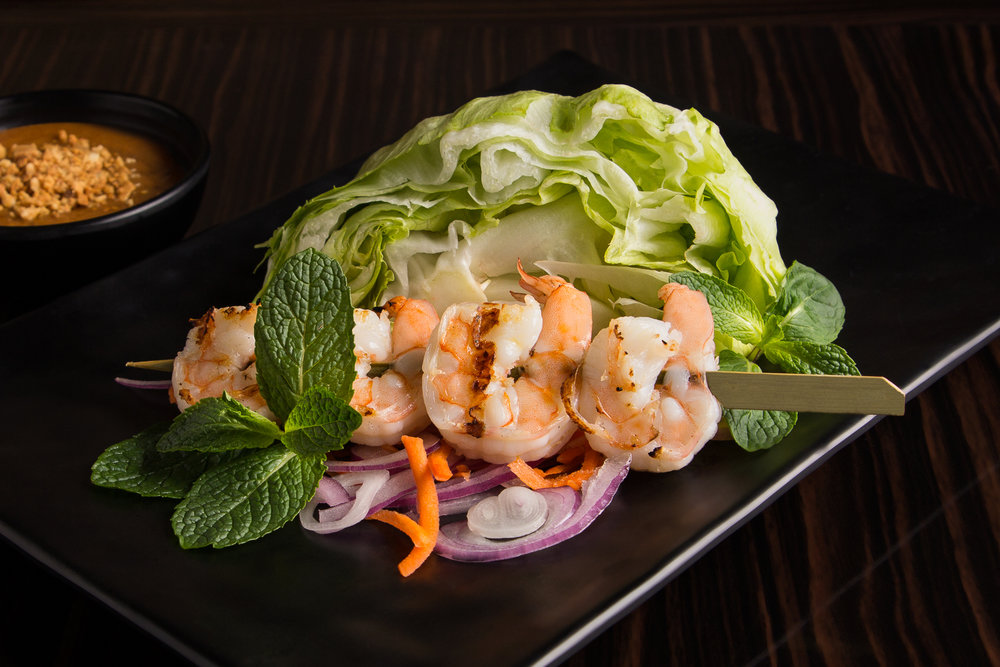 Peanut Sauce Salad with Prawn
