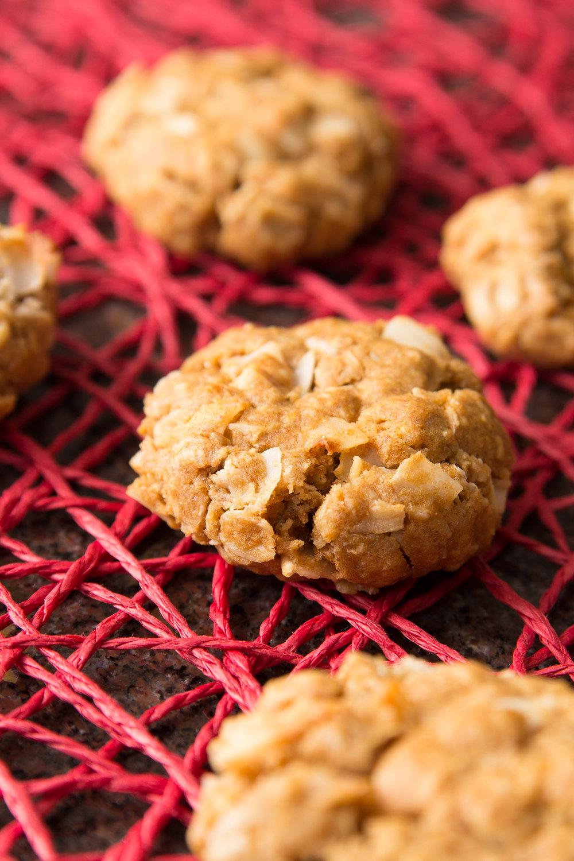 Savory Oatmeal Coconut Cookies