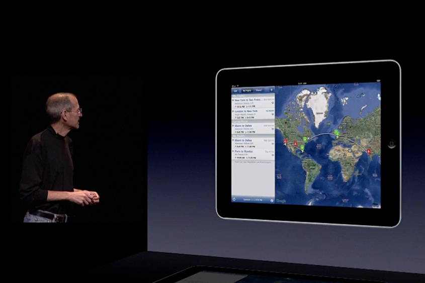 Steve Jobs features FlightTrack in Apple's 2010 keynote address