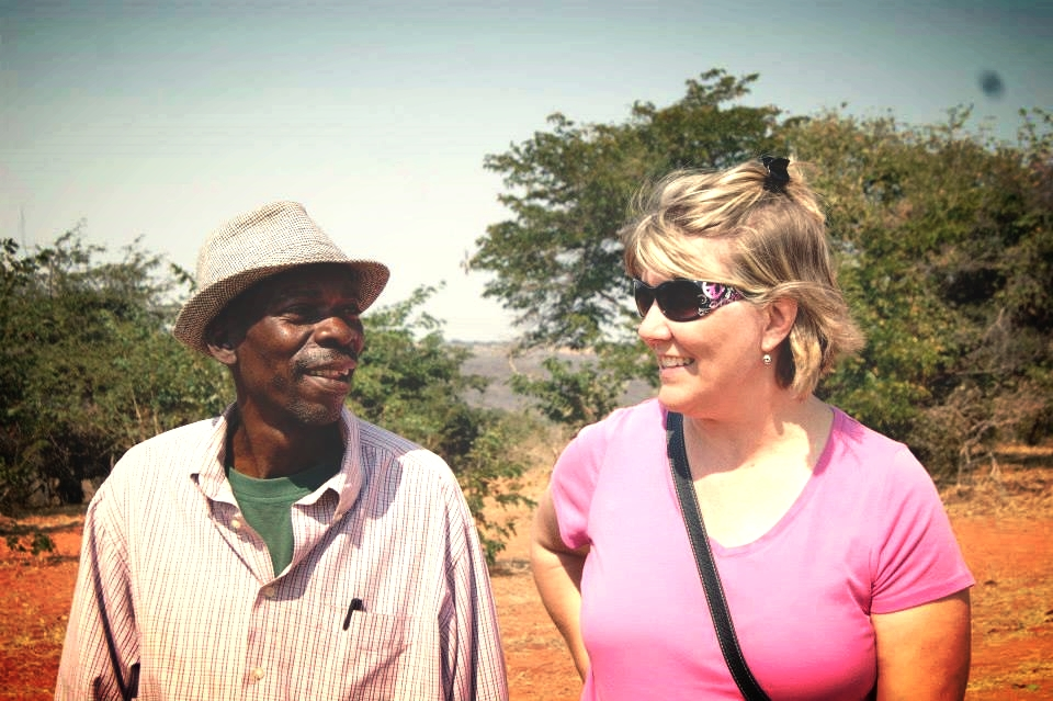 Tallgrass Network leader Julie Mettenburg with a leader of the Sizinda community, Zimbabwe.