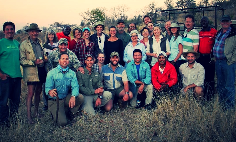 Tallgrass Network Hub leaders Julie Mettenburg and Chloe Burns, center back row, training at  Dimbangombe Ranch , Zimbabwe, August 2014.