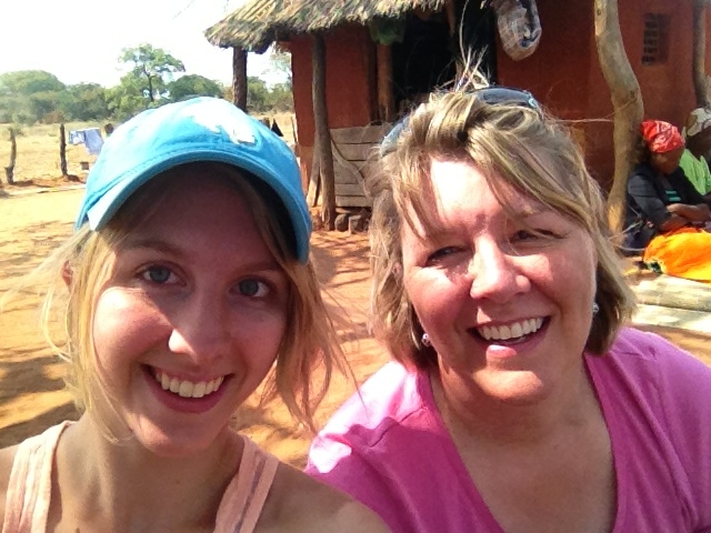 Chloe (left) pictured with her mother, Julie Mettenburg, in Zimbabwe, training to become Savory Hub Leaders.