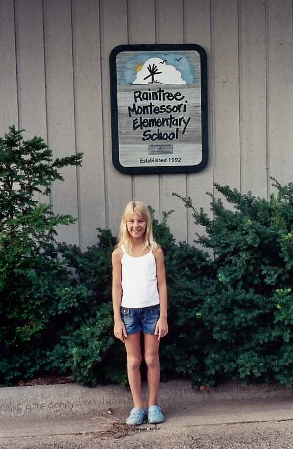 My first day of school, somewhere around 3rd grade based on the crocs.